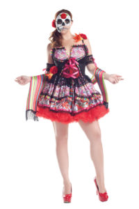 PK156XL - Day of the Dead Plus Size Womens Costume