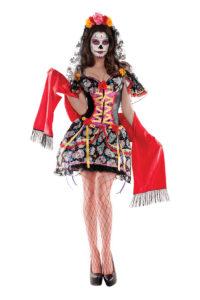 PK365 - La Catrina Day of the Dead Body Shaper Costume