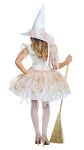 Party King PK946C Girls White Magic Witch Costume - B