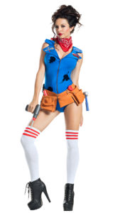 Party King PK1911 Dolly Mechanic Costume - A