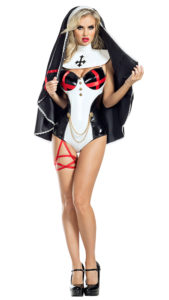 Party King PK1913 Exorcist Nun Costume - A
