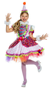 Party King PK1920C Girls Cutie Clown Costume - A