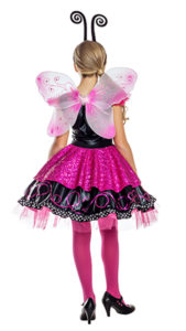 Party King PK1921C Girls Pink Flutter Butterfly Costume - B
