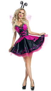 Party King PK1921 Pink Flutter Butterfly Costume - A