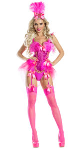 Party King PK1935 Flamingo Showgirl Costume - A