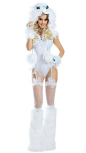Party King PK1940 Abominable Snowgirl Costume - A