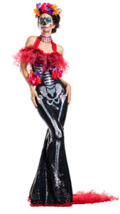 Party King PK1941 Glamour Muerta Costume - A