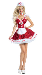 Party King PK1944 Glam Nurse Costume - A