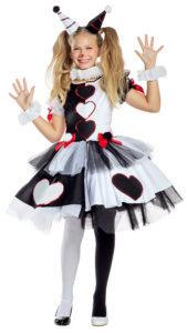 Party King PK1958C Girls Little Pierrot Clown Costume - A