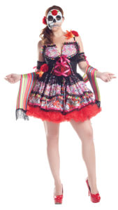 Party King PK156XL Plus Day Of The Dead Costume - A