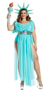 Party King PK1900XL Plus Lady Liberty Costume - A