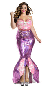 Party King PK1904XL Plus Blushing Beauty Mermaid Costume - A