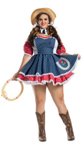 Party King PK1915XL Plus Howdy Hottie Costume - A