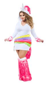 Party King PK863XL Plus Rainbow Unicorn Costume - A