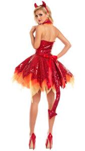Party King PK726 Hellfire Darling Devil Costume - B