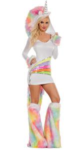 Party King PK863 Rainbow Unicorn Womens Costume - A