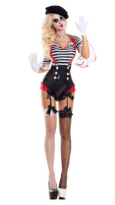 Party King PK942 Silent Mime Honey Womens Costume - A
