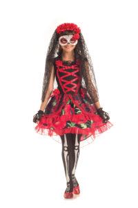 PK297C - Day of the Dead Senorita Children's Costume