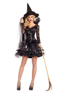 PK602 - Midnight Black Witch Womens Shaper Costume