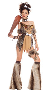 Party King PK919 Cave Babe Womens Costume - A