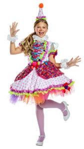 Party King PK1920C Girls Cutie Clown Costume - A