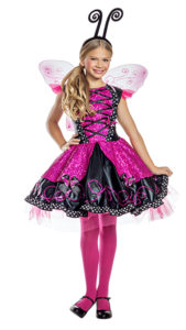 Party King PK1921C Girls Pink Flutter Butterfly Costume - A