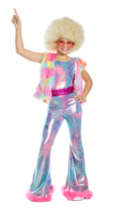 Party King PK1949C Girls Dancing Queen Disco Cutie Costume - A