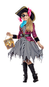Party King PK1951C Girls Seven Seas Pirate Costume - A