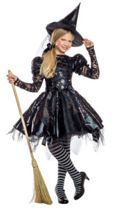 Party King PK1957C Girls Dark Witch Costume - A