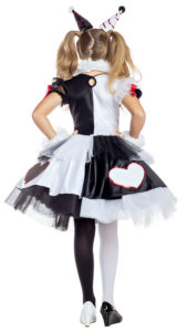 Party King PK1958C Girls Little Pierrot Clown Costume - B