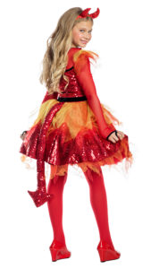 Party King PK1960C Girls Fiery Little Devil Costume - B