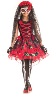 Party King PK297C Girls Day of the Dead Señorita Costume - A