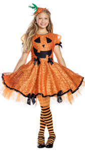 Party King PK848C Girls Pumpkin Cutie Costume - A
