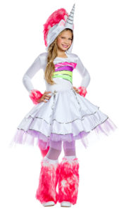 Party King PK863C Girls Rainbow Unicorn Costume - A