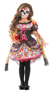 Party King PK156C Girls Day of the Dead Costume - A
