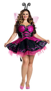 Party King PK1921XL Plus Pink Flutter Burtterfly Costume - A