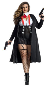 Party King PK1945XL Gangster Babe Costume - A