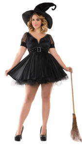 Party King PK444XL Plus Bewitching Pin-Up Witch Costume - A