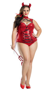 Party King PK807XL Plus Pentagram Devil Costume - A