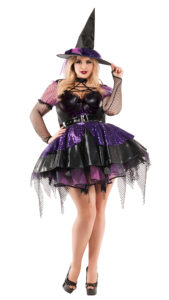 Party King PK859XL Plus Amethyst Pentragram Witch Costume - A