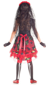 Party King PK297C Girls Day of the Dead Señorita Costume - B