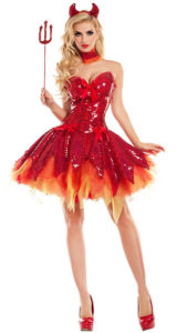 Party King PK726 Hellfire Darling Devil Costume - A