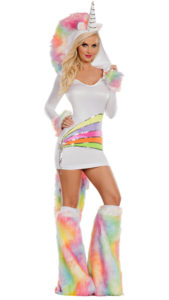 Party King PK863 Rainbow Unicorn Womens Costume - A