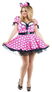 Party King PK815 Women's Pink Mouse Plus Size Costume - A